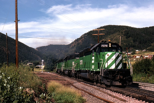 colorado trains bn helpers palmerlake burlingtonnorthern emd sd402 jointline