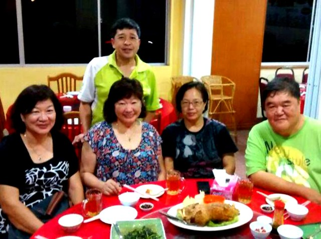 With cousin & in-laws in Miri