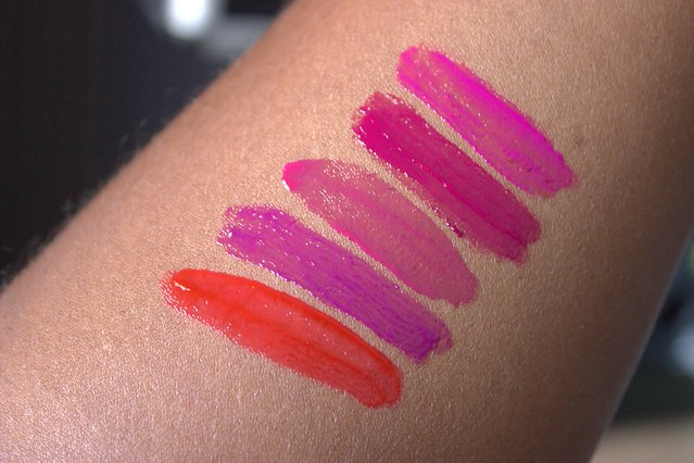 Wet n Wil lipgloss swatches