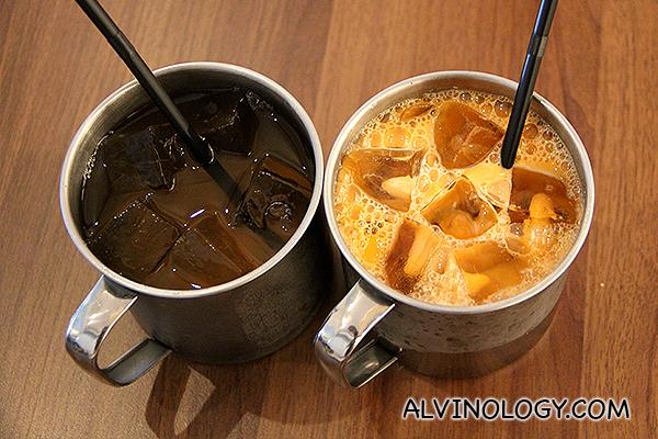 Lemongrass and Thai Iced Tea (S$3.90 each)