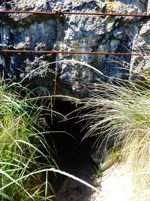 Bunker entrance.