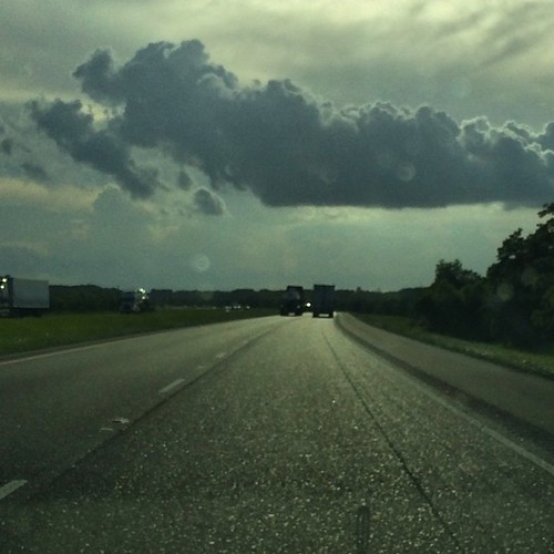 Interstate 10 heading west. In Louisiana heading towards Lake Charles