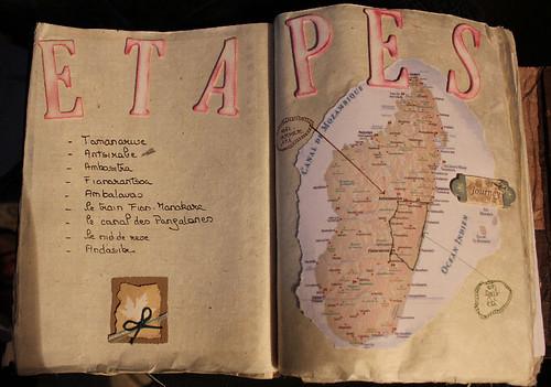 Itinéraire à Madagascar dans mon carnet