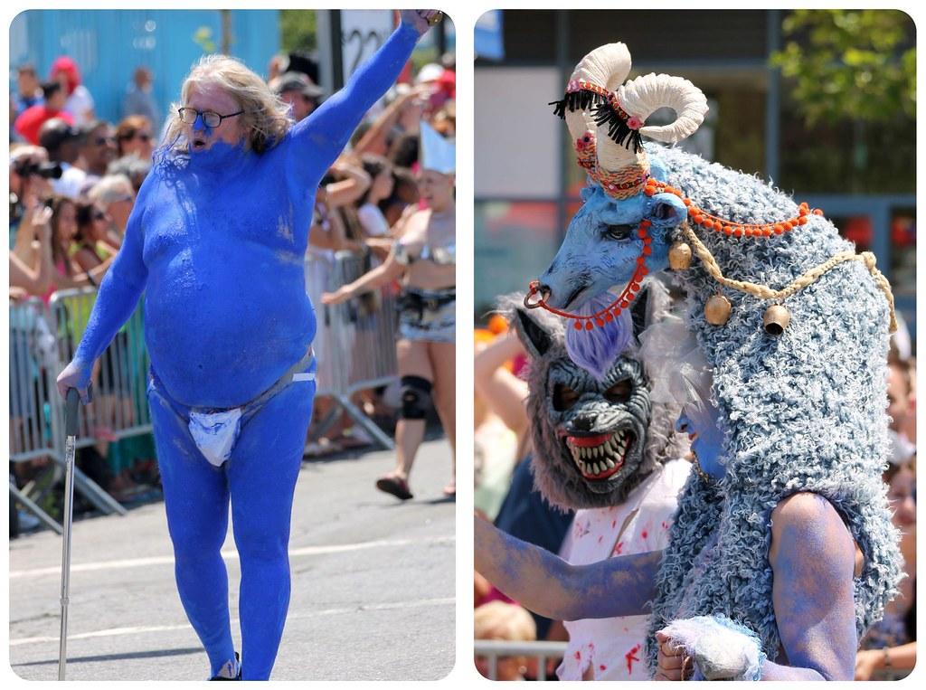 coney island mermaid parade whacky costumes