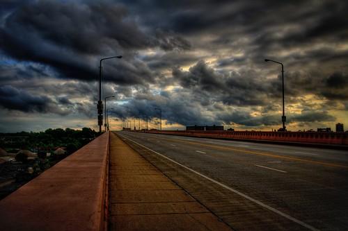 bridge ohio statue frank hope memorial traffic cleveland avenue hdr guardian carnegie lorain photomatix szekely frankszekely