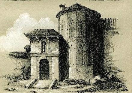 """Ermita de San Eugenio en el libro """"Historia de los Templos de España"""" (1858). Grabado de Valeriano Bécquer"""