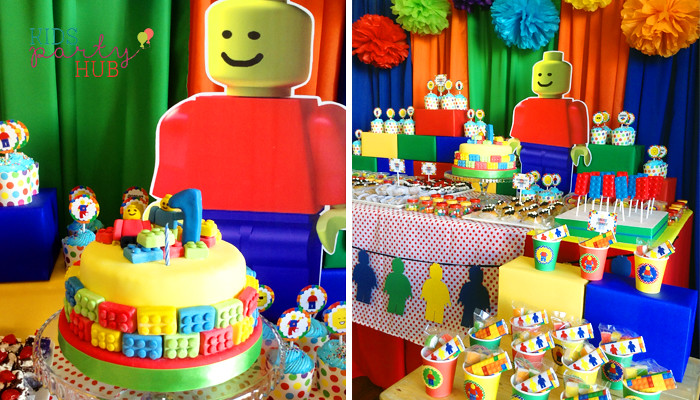 Lego Themed Dessert Table