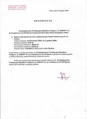 Referencje Urzędu Gminy w Osieku 2009r.