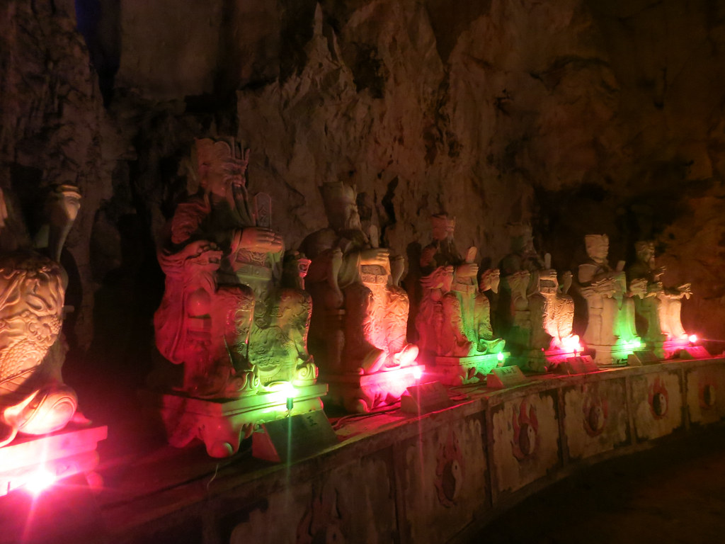 fluorescent lights in cave