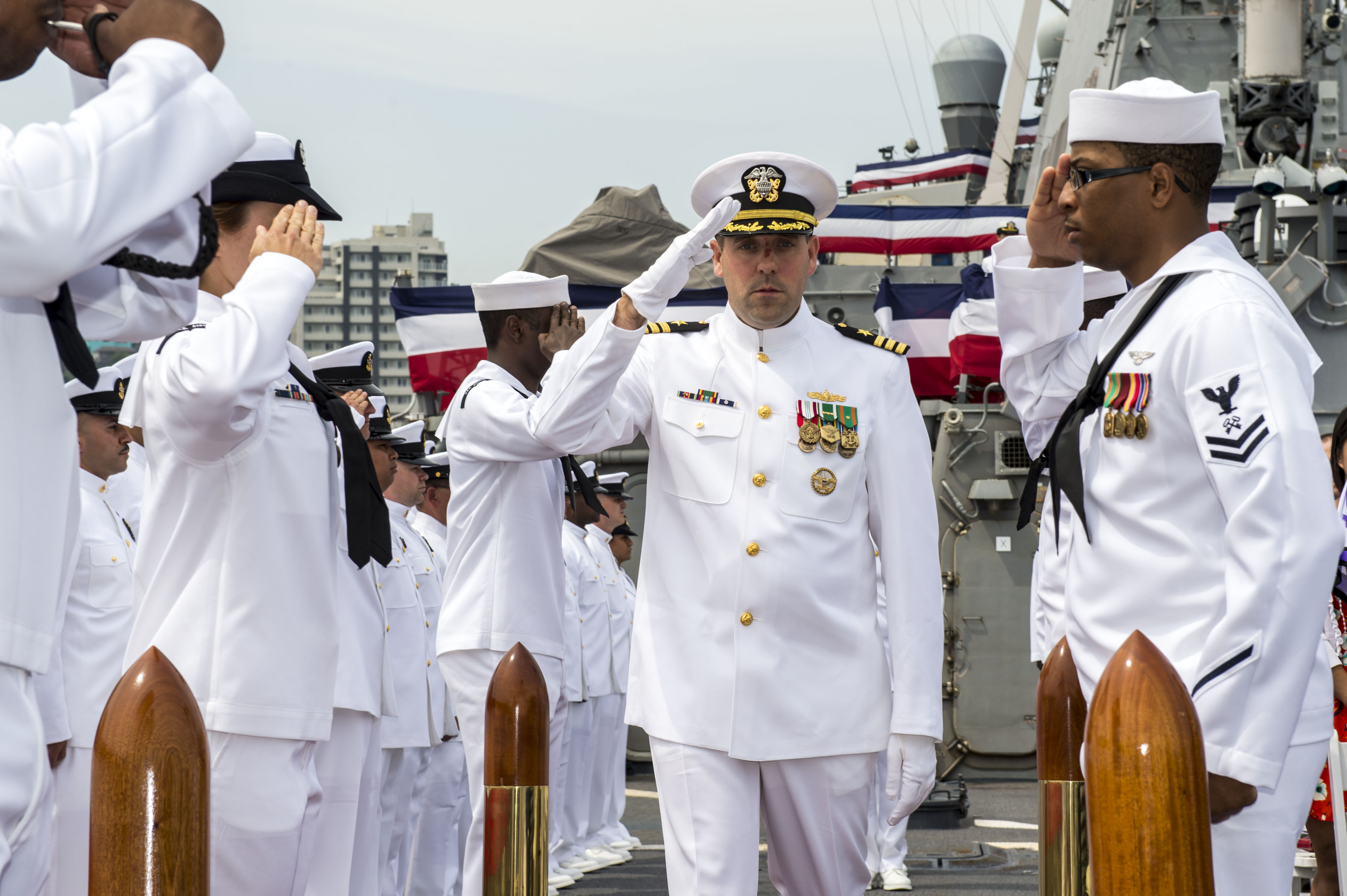 Stethem Bids Farewell, Welcomes New Commanding Officer