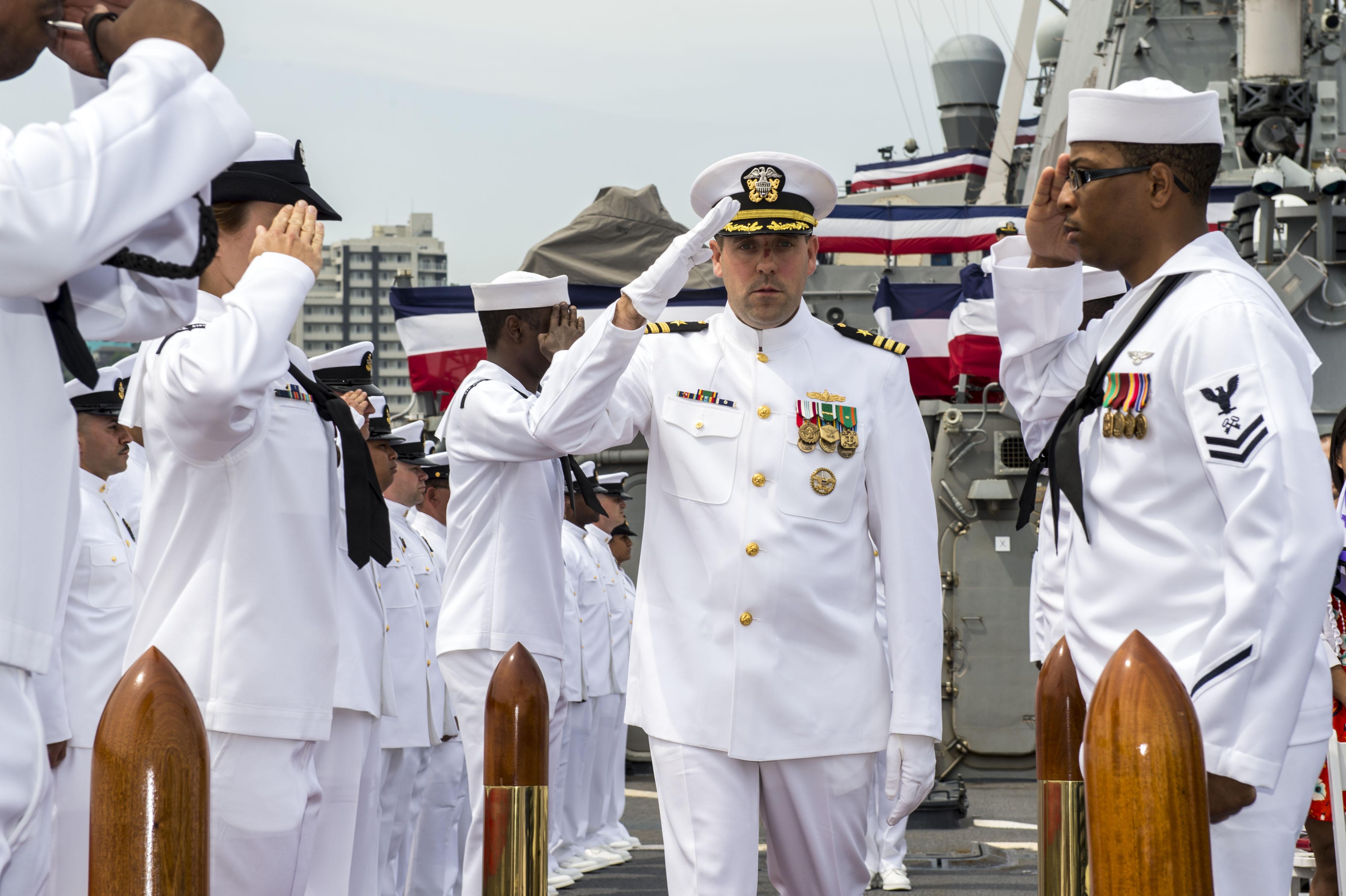 Stethem Bids Farewell, Welcomes New Commanding Officer