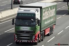 Volvo FH 6x2 Tractor with 3 Axle Curtainside Trailer - KX13 LHN - H4908 - Ingrid Gretal - Eddie Stobart - M1 J10 Luton - Steven Gray - IMG_4373