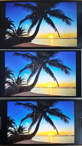 เทียบ Colour range ของ Oppo Find 7 vs LG G3 vs Samsung Galaxy S5