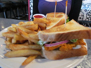 Buffalo Sandwich with Fries at Downbeat Diner
