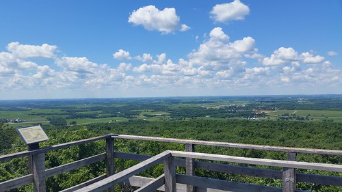 View from West Observation Tower, Blue Mound State Park, 7/4/14