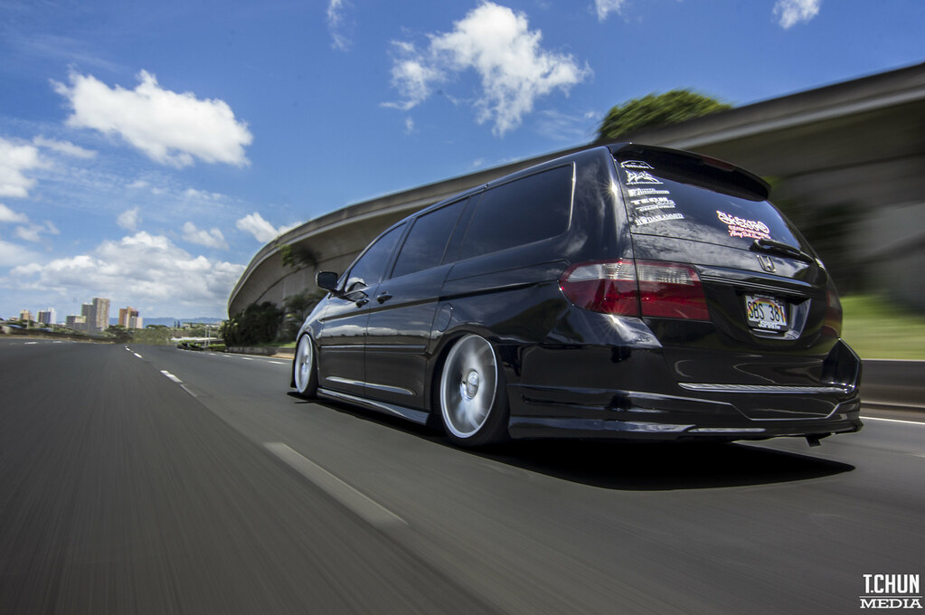 honda odyssey van slammed vip on air