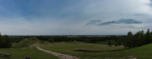 panorama landscape view hill lithuania medvėgalis
