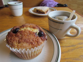 Blueberry Muffin, Lavender Rose White Tea and Scone from Dovetail