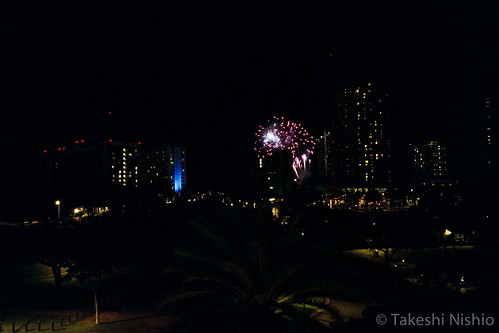 Hilton's Friday night fireworks