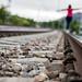 Walking on the tracks by NessSlipknot
