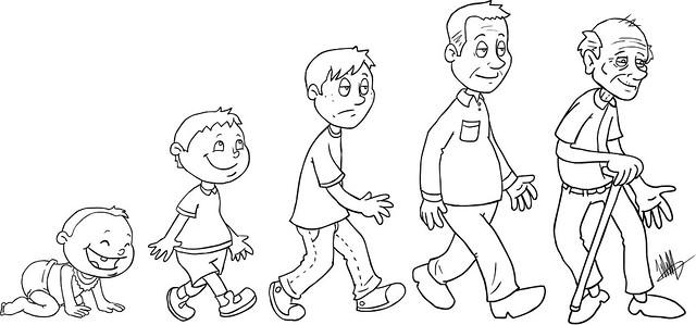Etapas del desarrollo humano para niños para pintar - Imagui