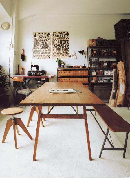 truck furniture japan industrial rustic modern studio