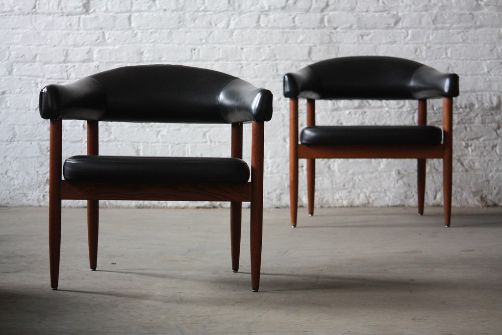 Miraculous Feisty Mid Century Modern Curved Back Arm Chairs 1960S Ncnpc Chair Design For Home Ncnpcorg