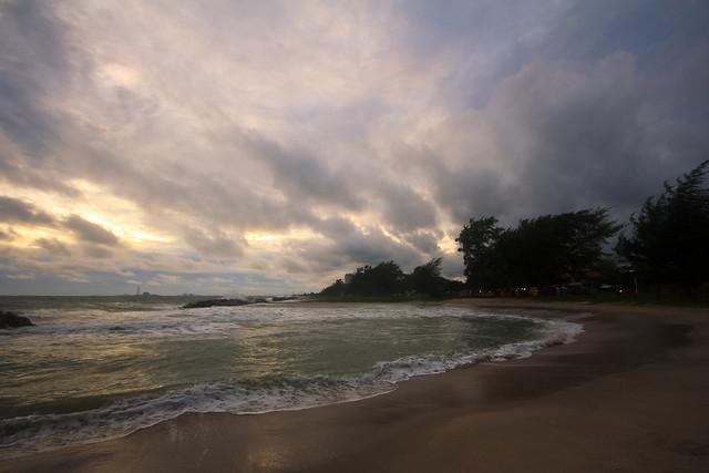 little bay at sundown