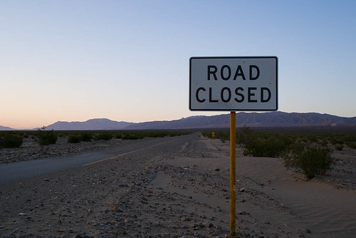 Trona Wildrose road was closed due to flood damage.