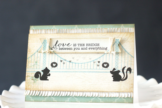 love is the bridge {mama elephant stamp highlight}