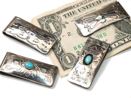 Indian Jewelry / Navajo Silver Money Clip
