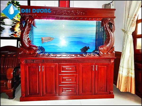 bộ hồ cá rồng dài 1.68 chạm song ngư