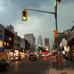 Yonge Street just before rain
