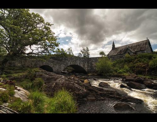 old bridge ladies church stone river ancient ruins stream view eire brook celtic ladiesview irelandkerry