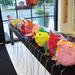 paper mache kookie birds by small hands big art