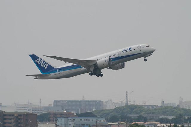 "Boeing 787-8 (N787EX/ZA002 ""DREAM LINER"") @ ITM/RJOO"