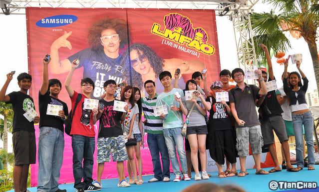 Samsung GALAXY Y LMFAO Live In Malaysia @ Sunway Pyramid