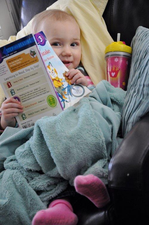 Lola reading 2