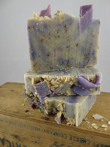 Lavender Oatmeal Soap April 2012 (10)