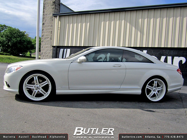 Mercedes CL550 with Custom 22in Asanti AF167 Wheels