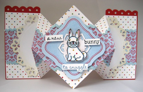 new bunny diamond fold full view