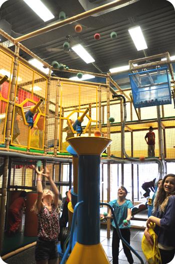 Funhaven ballroom and climbers