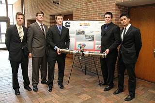Diesel Engine Emergency Shutdown Testing Apparatus Team with poster