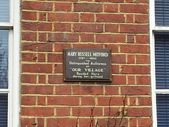 Photo of Mary Russell Mitford bronze plaque