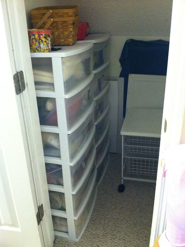 Fabric and yarn overflow closet