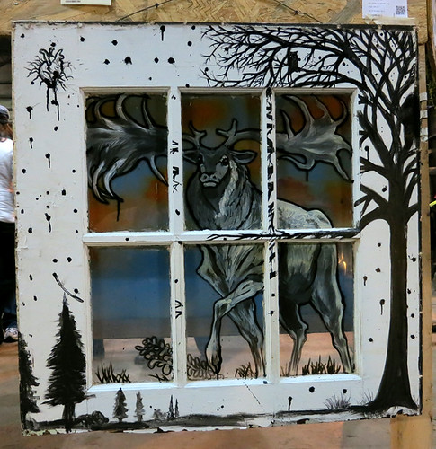 AAN 012 Return to Nature by Lorne Zeman - mixed media on wooden door