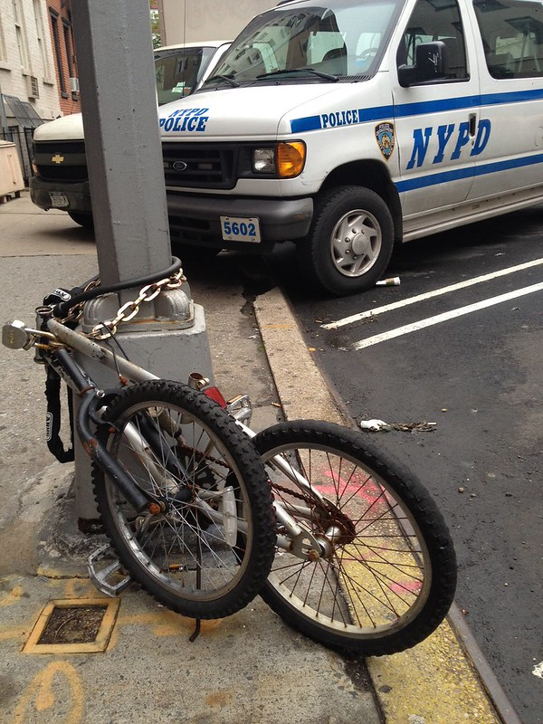 Abandoned bike on West 20th St