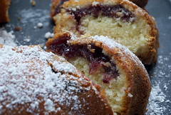 Black Cherry Sour Cream Coffee Cake