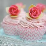 Gluten free lemon swirl white choc & raspberry cupcakes