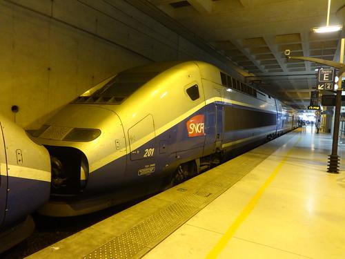 Alstom TGV Duplex n°201  -  Gare SNCF Marne la Vallée Chessy